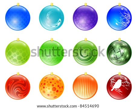 New year different multicolored ball toy collection