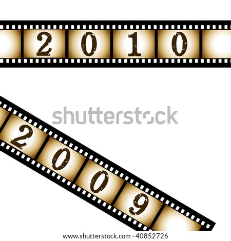 New year film strip.Vector illustration.