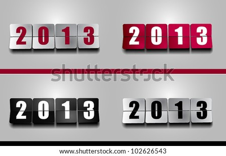 New 2012 Year flip counter