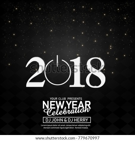New year flyer (2018) #779670997