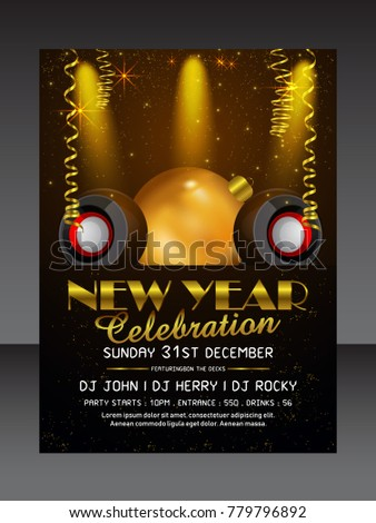 new year flyer 1 january