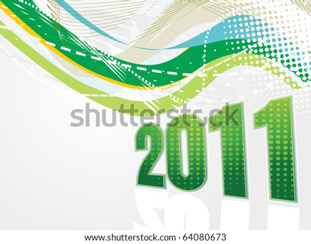 Cards For New Year 2011. stock vector : New Year 2011