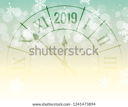 new year 2019 golden shiny