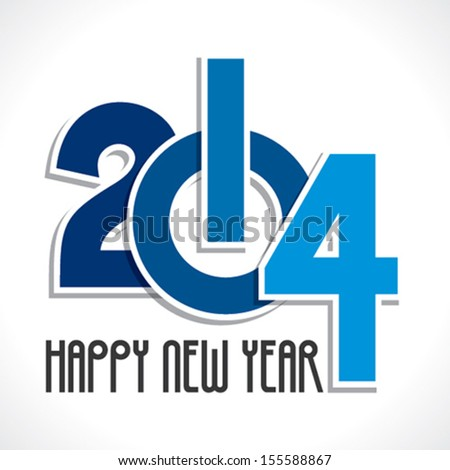 new year 2014 greeting background vector