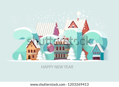 Stock Photo New year 2019. Greeting card.