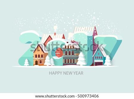 New year 2017. Greeting card.