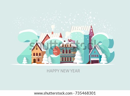 new year 2018 greeting card