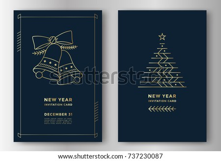 new year greeting card design...