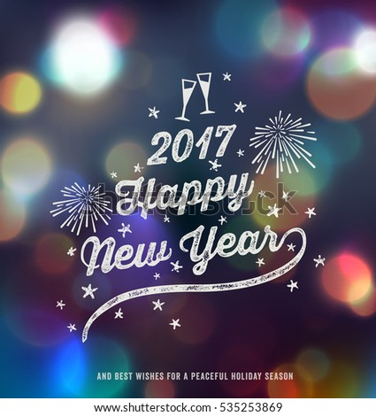 new year greeting card  happy