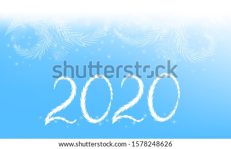 New year hoarfrost decoration. Hoarfrost vector background. Frost, christmas, winter holiday background element.