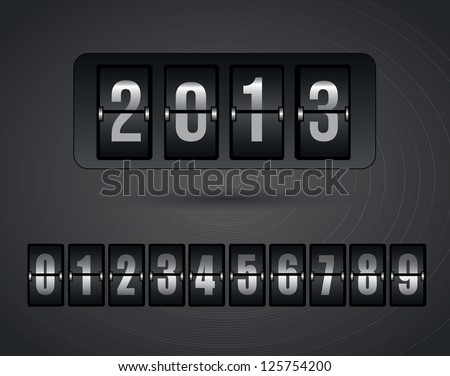 New year icons over gray background vector illustration