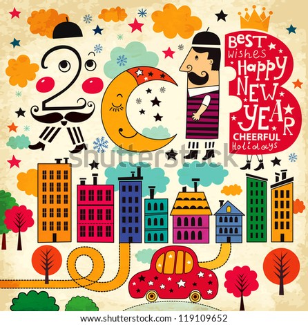 New Year illustration (2013)