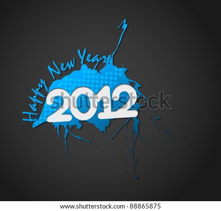 new year 2012 in white background. Vector illustration #88865875