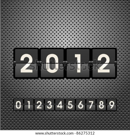 New 2012 Year  information display board vector illustration. Graphic Design Editable For Your Design.