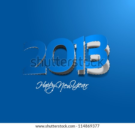new year 2013 label design. Vector illustration