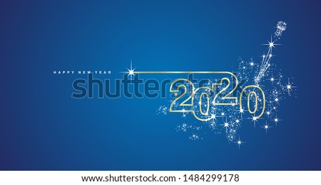new year 2020 line design