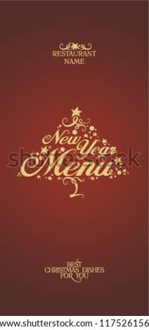 New Year Menu Card Design template.