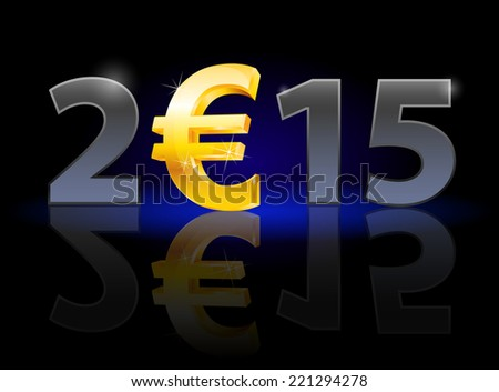 new year 2015  metal numerals
