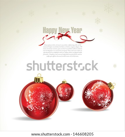 New Year or Christmas vector background