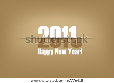 New Year paper cut greeting card | changing years cardboard