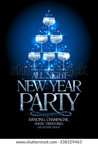 new year party poster with