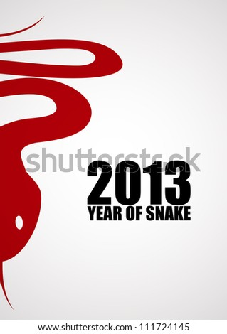 New year poster with a snake. EPS10 vector.