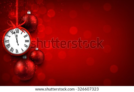 new year red background with