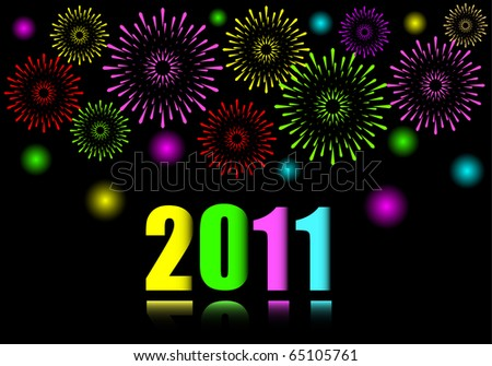 new years fireworks wallpaper. stock vector : New Year#39;s