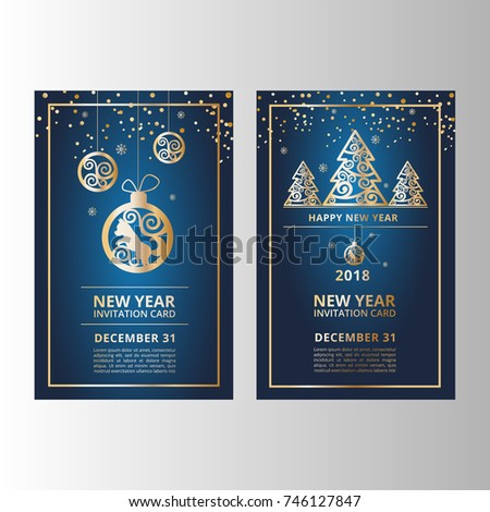 New Year's banners, flyers for web sites - Shutterstock ID 746127847