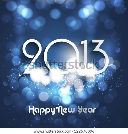 New Year's card 2013 blue colorful circle background Vector illustration #122678896