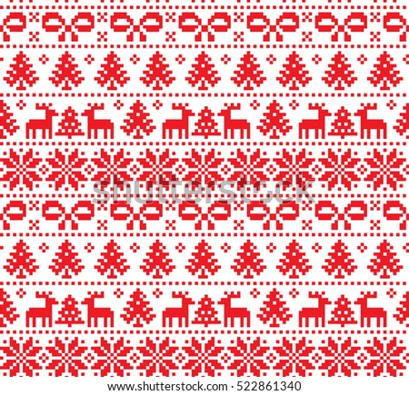 new year's christmas pattern