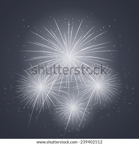 new year's fireworks in the