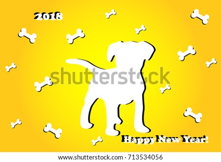 new year's greeting card with a