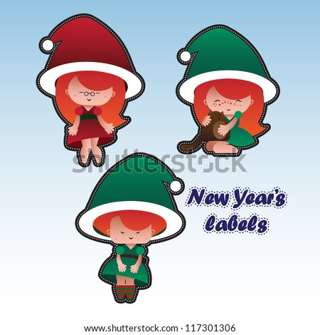 new year\'s label