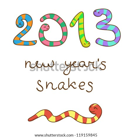 New Year's snakes 2013 (Vector)