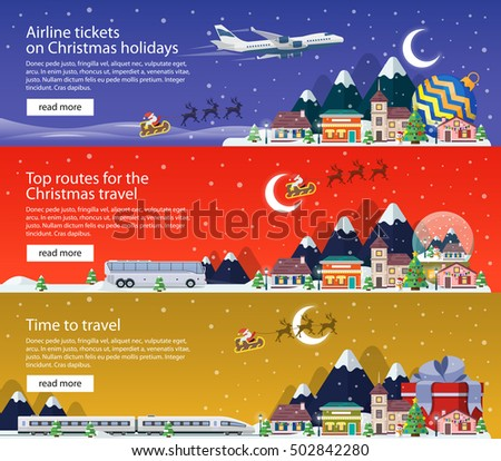 new year's travel banners in
