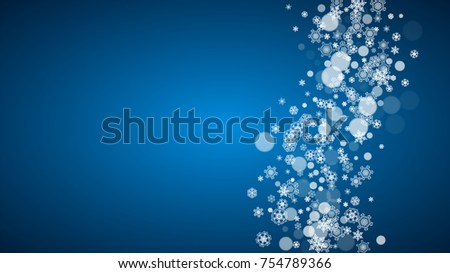 new year snow on blue background winter theme horizontal christmas