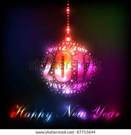 new year 2012 sparkling rainbow