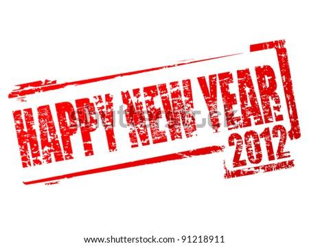 New year 2012 stamp
