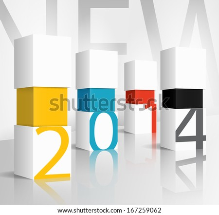 New year 2014 technology concept