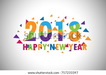 new year 2018 text design