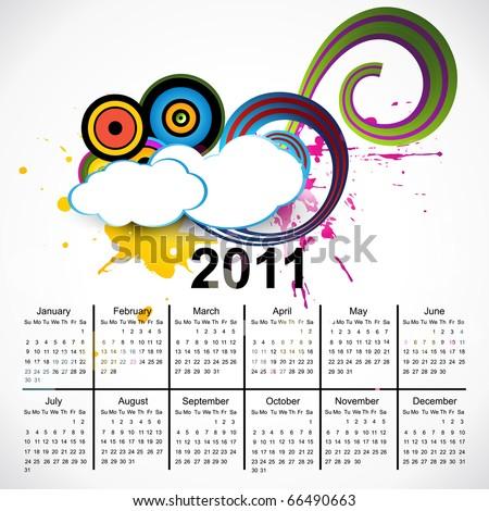 new year vector calendar design