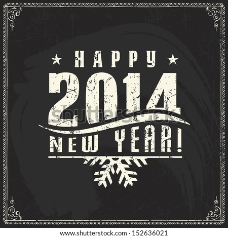 new year  vintage chalk text
