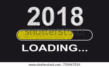 New Year 2018 - Yellow loading bar