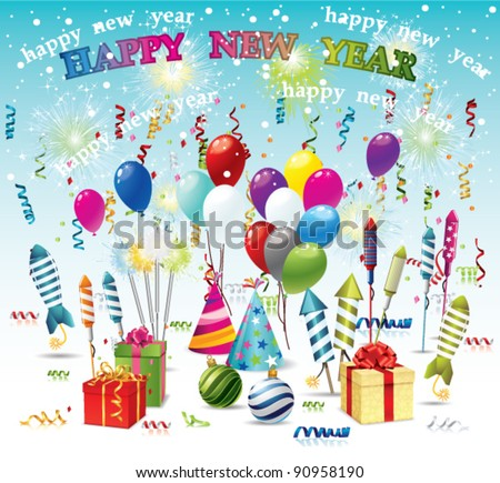 New Years 2012 - stock vector