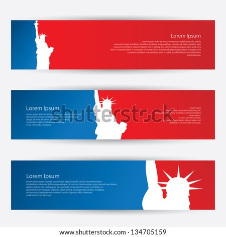new york banners   vector