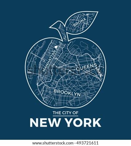 new york big apple t shirt