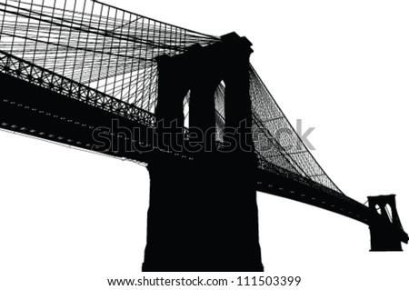 new york brooklyn bridge black