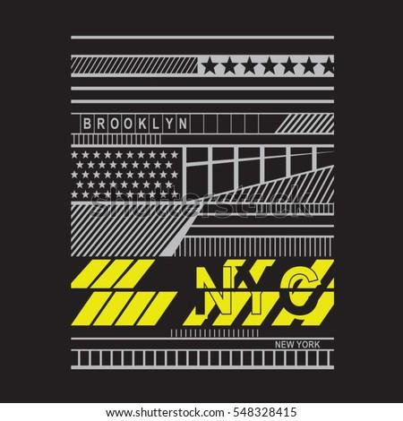 New york Brooklyn typography, tee shirt graphics, vectors