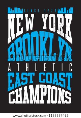 209a949f new york brooklyn urban poster distressed graphic apparel #1155357493